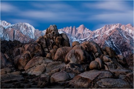 Before Sunrise, Mt. Whitney and the Alabama Hills, California