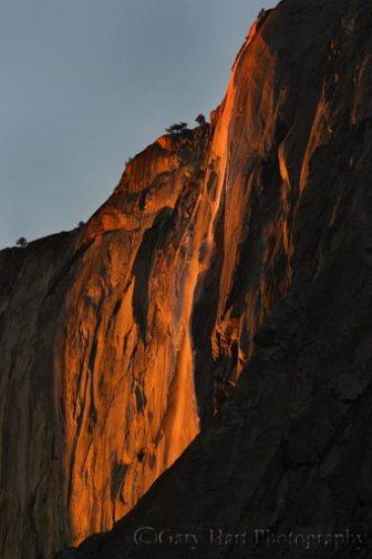 Horsetail Fall from the El Capitan Picnic Area