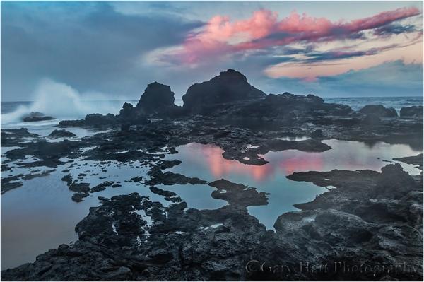 Sunset on the Rocks, West Maui, Hawaii