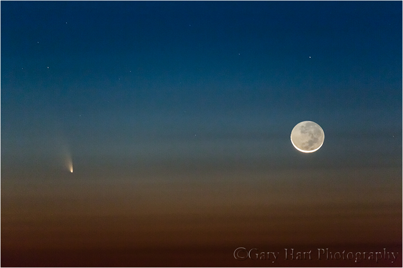 Comet PanSTARRS and New Moon, Haleakala, Maui