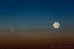 Comet PanSTARRS and New Moon, Haleakala, Maui