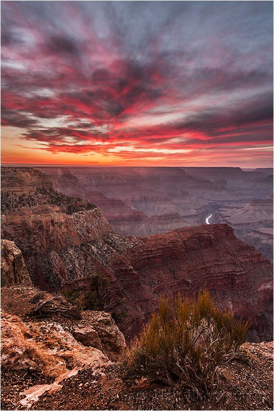 Sky on Fire, Hopi Point, Grand Canyon