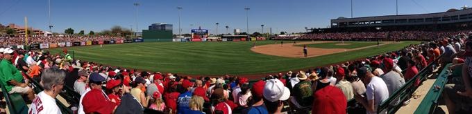 Giants/Rockies at Scottsdale Stadium, March 21, 2013