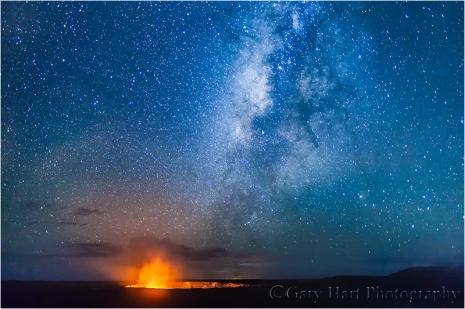 Under the Milky Way, Kilauea Caldera, Hawaii