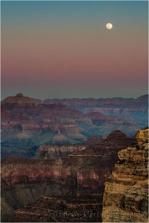 Gary Hart Photography: Moonrise, Hopi Point, Grand Canyon