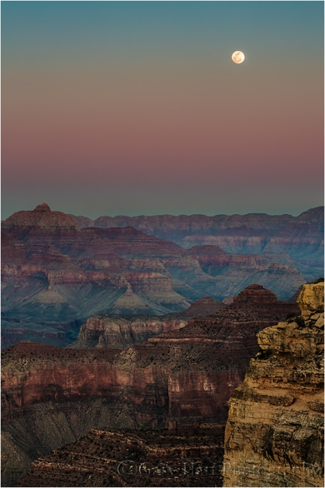 Gary Hart Photography: Moonrise, Hopi Point, Grand Canyon