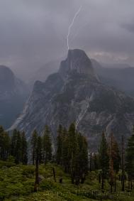 Direct Hit, Half Dome Lightning Strike, Yosemite