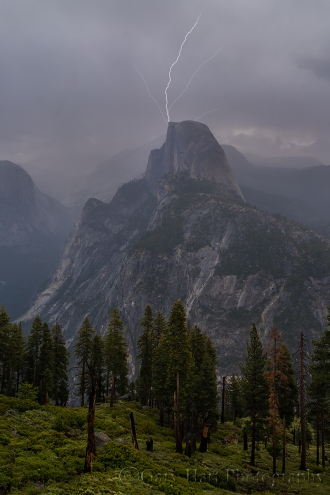 Gary Hart Photography: Direct Hit, Half Dome Lightning Strike, Yosemite