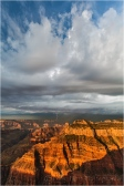 Incoming Storm, Bright Angel Point, North Rim, Grand Canyon