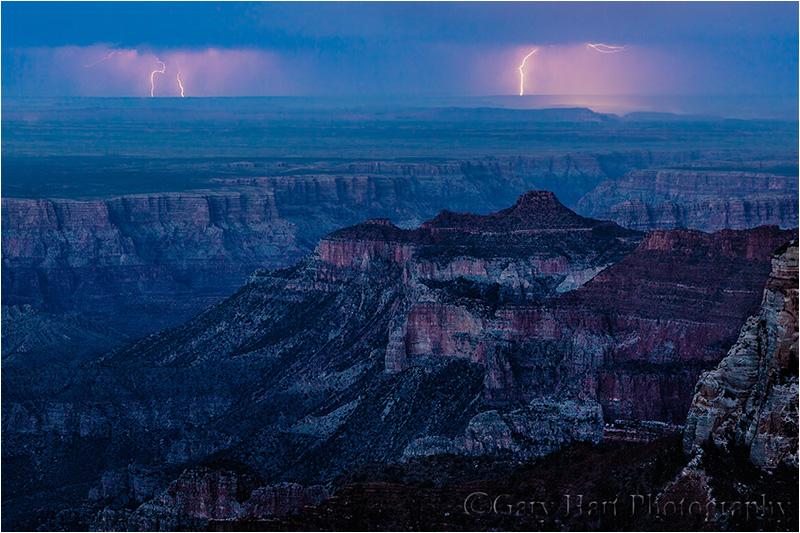Twilight Lightning, Roosevelt Point, Grand Canyon North Rim