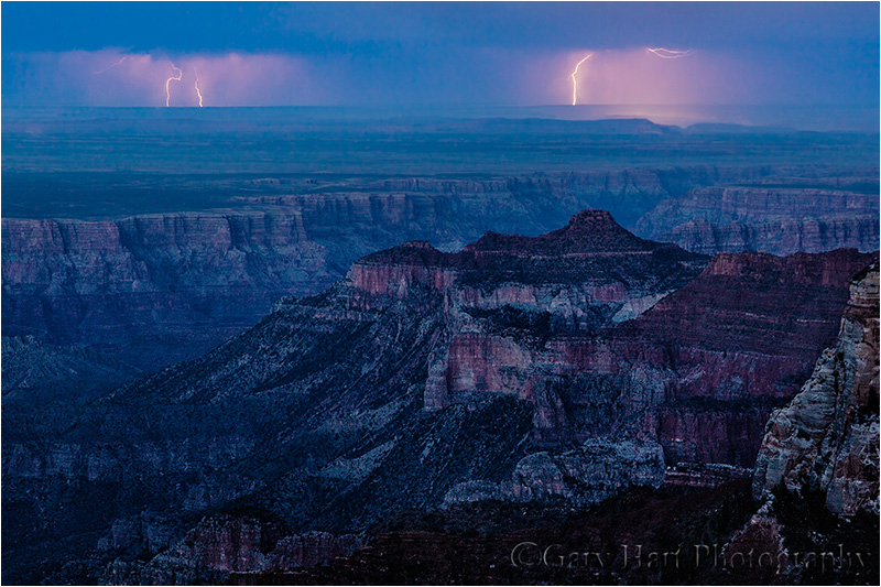 Twilight Lightning, Roosevelt Point, Grand Canyon North Rim