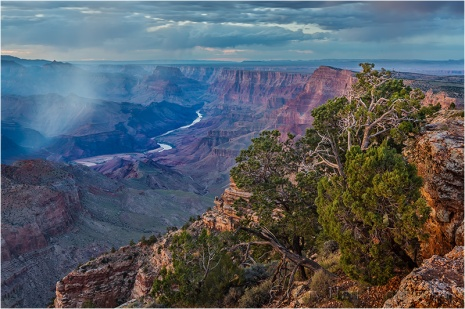 Rain Squall, Desert View, Grand Canyon