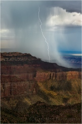 Gary Hart Photography: Downpour, Point Imperial, North Rim, Grand Canyon