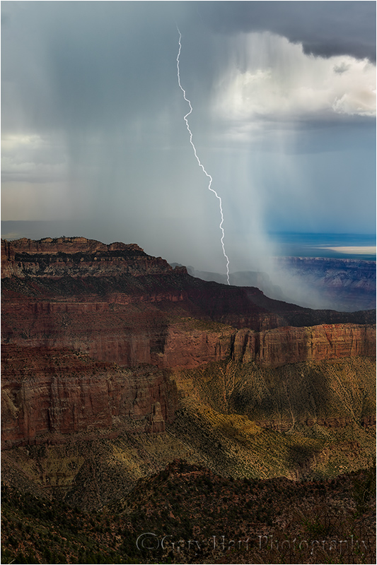 Downpour, Imperial Point, North Rim, Grand Canyon