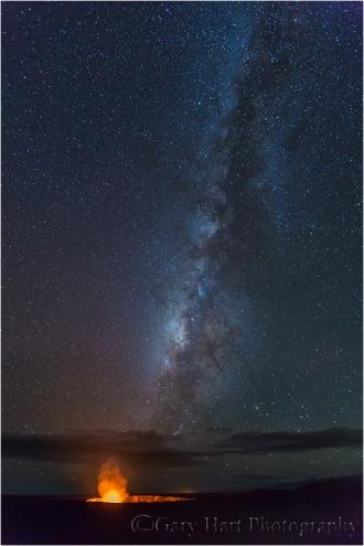 Milky Way and Halemaʻumaʻu Crater, Kilauea, Hawaii