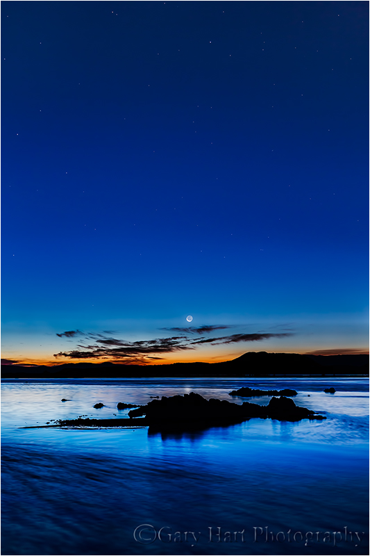 Night and Day, Crescent Moon and Mono Lake