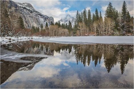 Winter Reflection, Half Dome and the Merced River, Yosemite