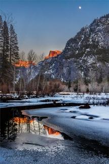 Gary Hart Photography: Winter Moonrise, Merced River, Yosemite