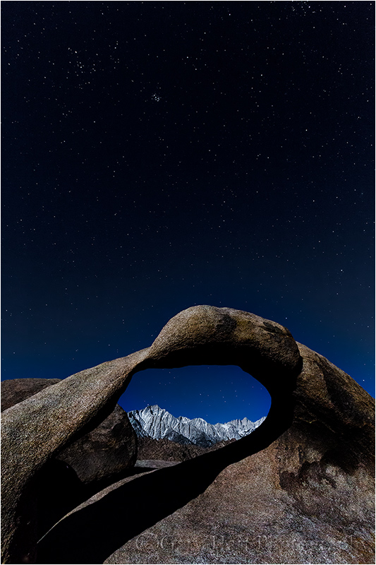 Moonlight, Whitney Arch, Alabama Hills, CaliforniaCanon EOS 5D Mark III15 seconds16 mmISO 3200F8