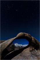 Moonlight, Whitney Arch, Alabama Hills, California