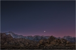 Sunrise Moonset, Sierra Crest, Alabama Hills, California
