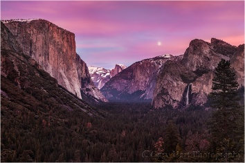 Twilight Magic, Yosemite Valley from Tunnel View, Yosemite