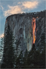 Fire on the Mountain, El Capitan and Horsetail Fall, Yosemite