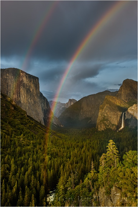 Gary Hart Photography: Double Rainbow, Yosemite Valley