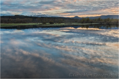 Sunrise Reflection, Trout Lake and Mt. Adams, Washington