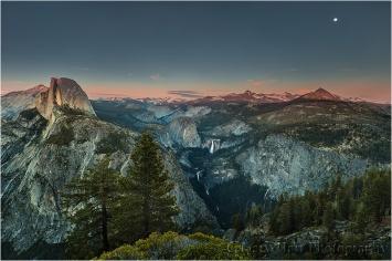 Moonrise, Glacier Point, Yosemite