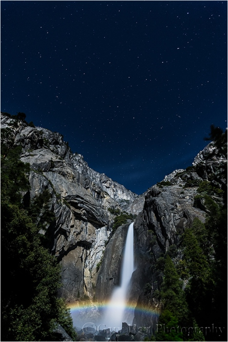Moonbow and Big Dipper, Lower Yosemite Fall, Yosemite