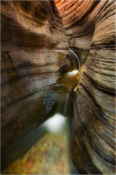 Slot Cascade, Matkatamiba Canyon, Inner Grand Canyon