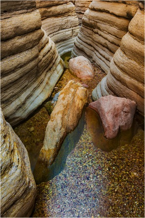 Rocks and Creek, Matkatamiba Canyon, Inner Grand Canyon