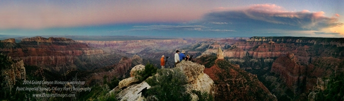 The view from Point Imperial (iPhone panorama)