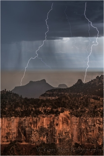 Gary Hart Photography: Too Close, Lightning on the North Rim, Grand Canyon
