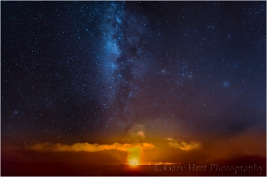 Gary Hart Photography: Heavenly Fire, Kilauea Caldera, Hawaii
