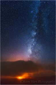 Gary Hart Photography, The Milky Above Kilauea Volcano