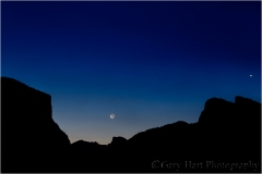 Gary Hart Photography, Moon and Morning Star, Yosemite