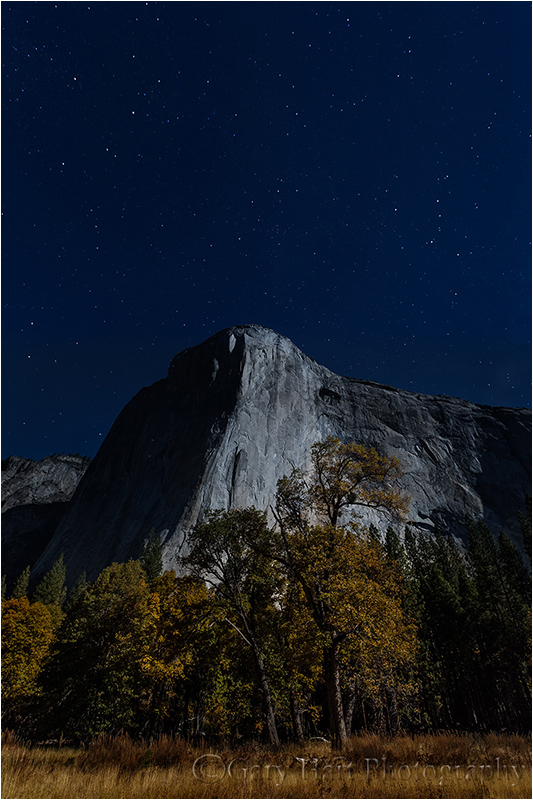 Autumn Moonlight, El Capitan, Yosemite