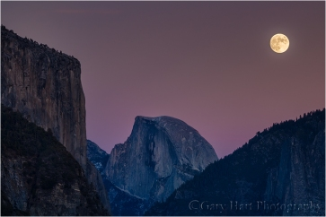 Gary Hart Photography, Moonrise, Yosemite
