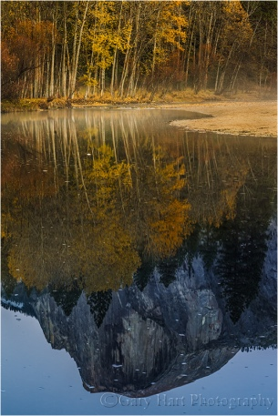 Gary Hart Photography: Autumn Reflection, Half Dome, Yosemite