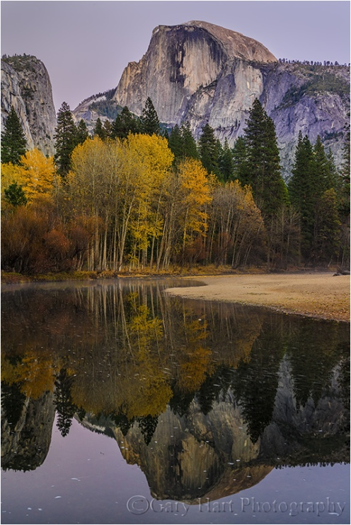 Gary Hart Photography: Autumn Twilight, Half Dome and the Merced River, Yosemite