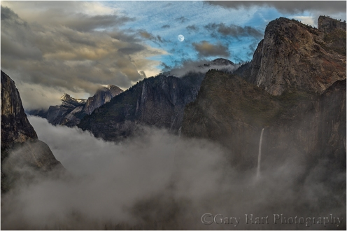 Moonrise Through the Storm, Yosemite Valley