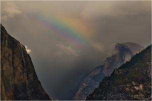 Gary Hart Photography, Half Dome and Rainbow, Yosemite