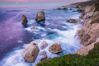 Gary Hart Photography: Moon on the Rocks, Soberanes Point, Big Sur
