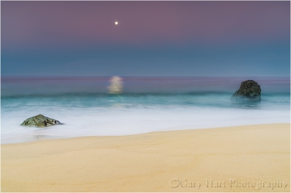 Gary Hart Photography: Moonlight on the Water, Garrapata Beach, Big Sur