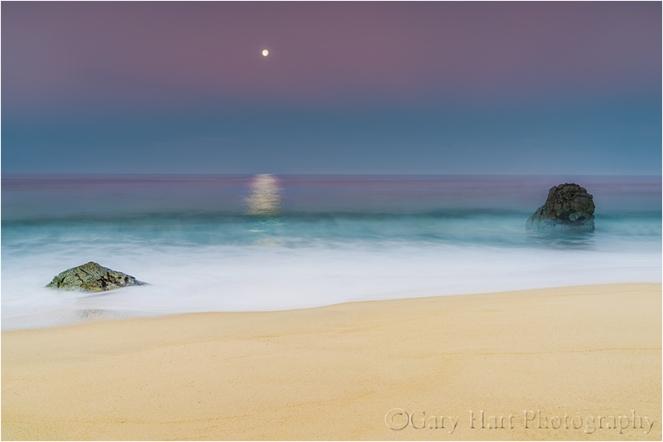 Gary Hart Photography: Moonlight on the Water, Garrapata Beach, Big Sur