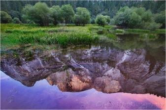 Gary Hart Photography: Half Dome Sunset Reflection, Mirror Lake, Yosemite