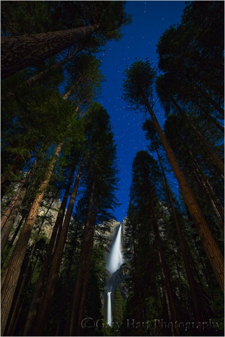 Gary Hart Photography: Moonlight, Yosemite Falls, Yosemite