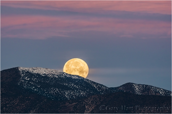 Gary Hart Photography: Moonset, Wildrose Peak, Death Valley